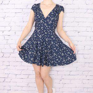 Ralph Lauren navy floral sundress c1